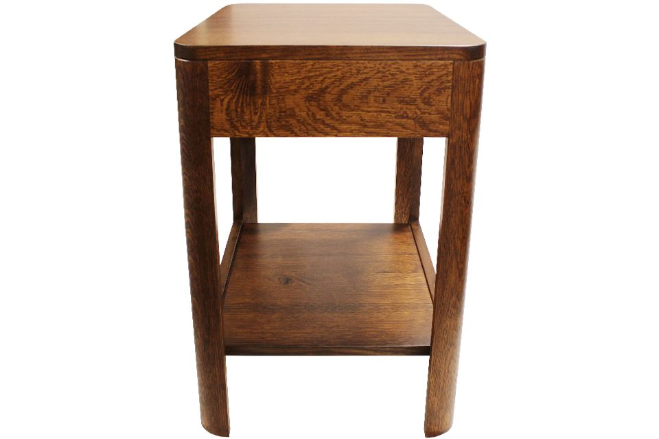 Rough Quartersawn Oak End Table