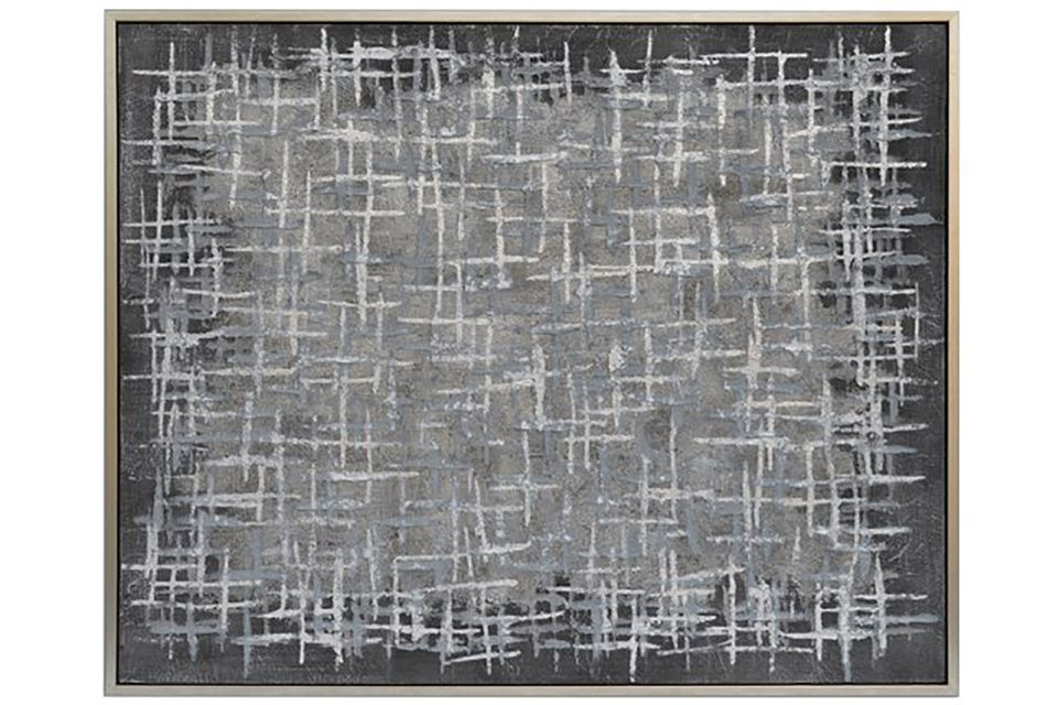Grey Scale Abstract Framed Canvas