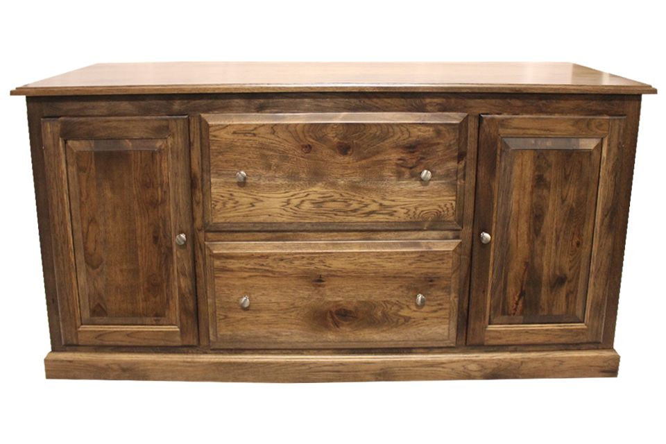 Rustic Hickory Console
