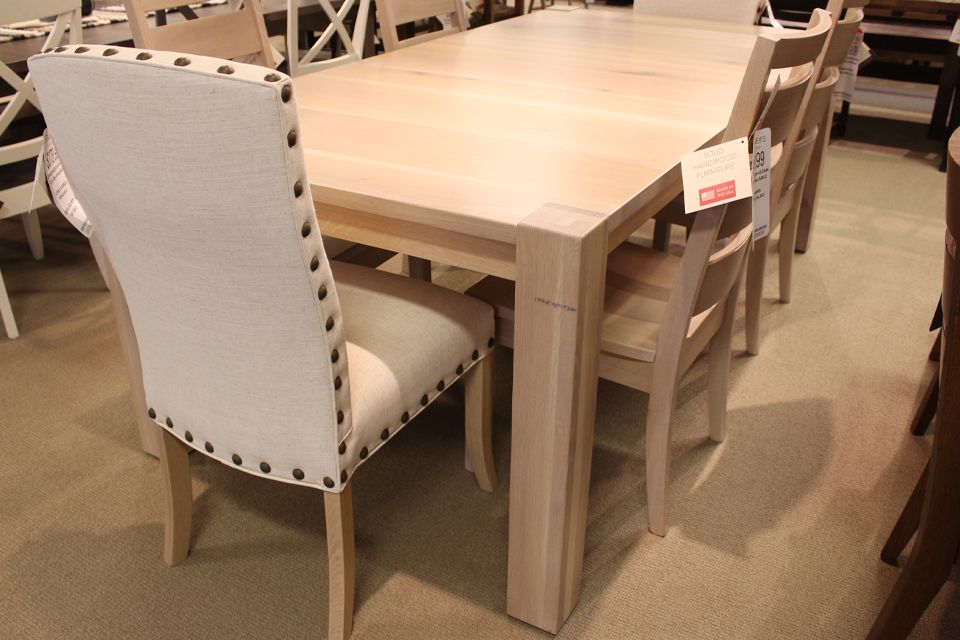 Rustic Quartersawn Oak Dining Table with Two 12