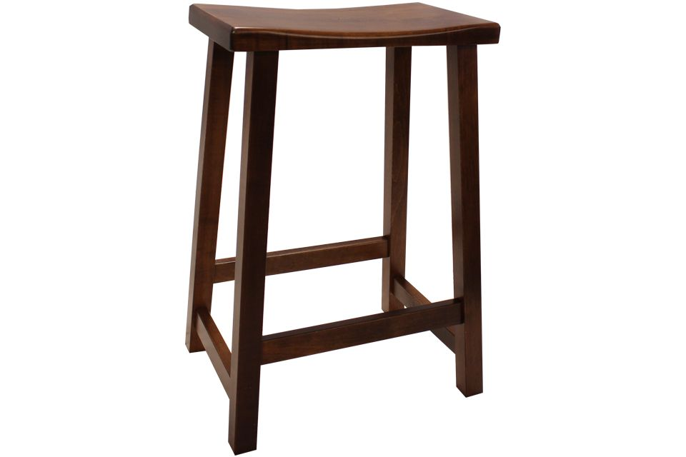 Brown Maple Counter Stool
