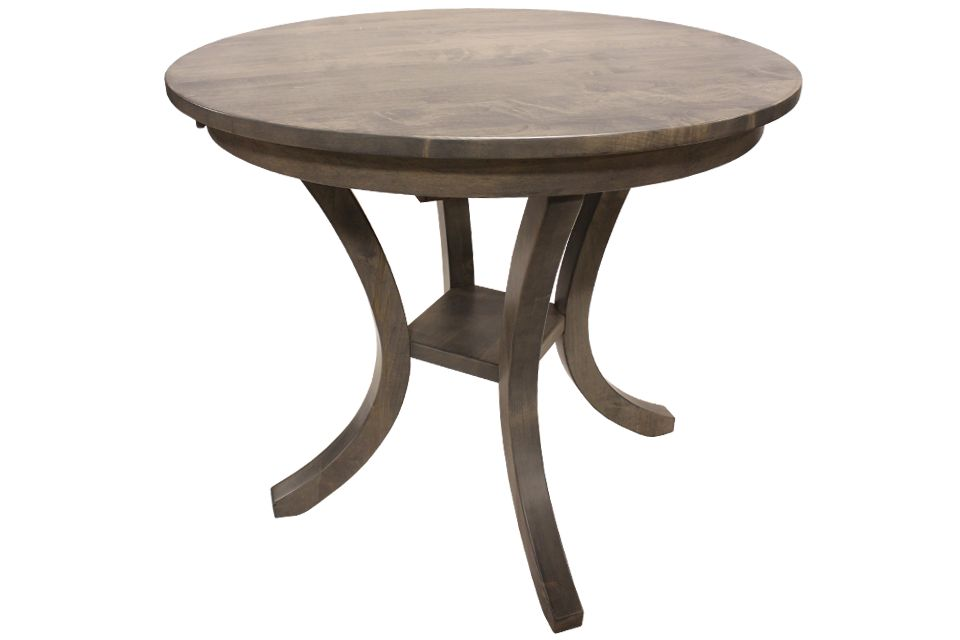 Brown Maple Single Pedestal Table