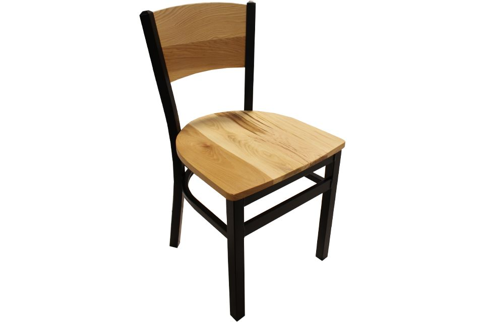 Rustic Hickory and Metal Dining Chair