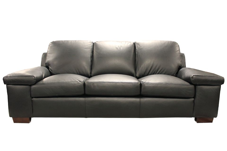 Leather Living Havana Sofa in Raven