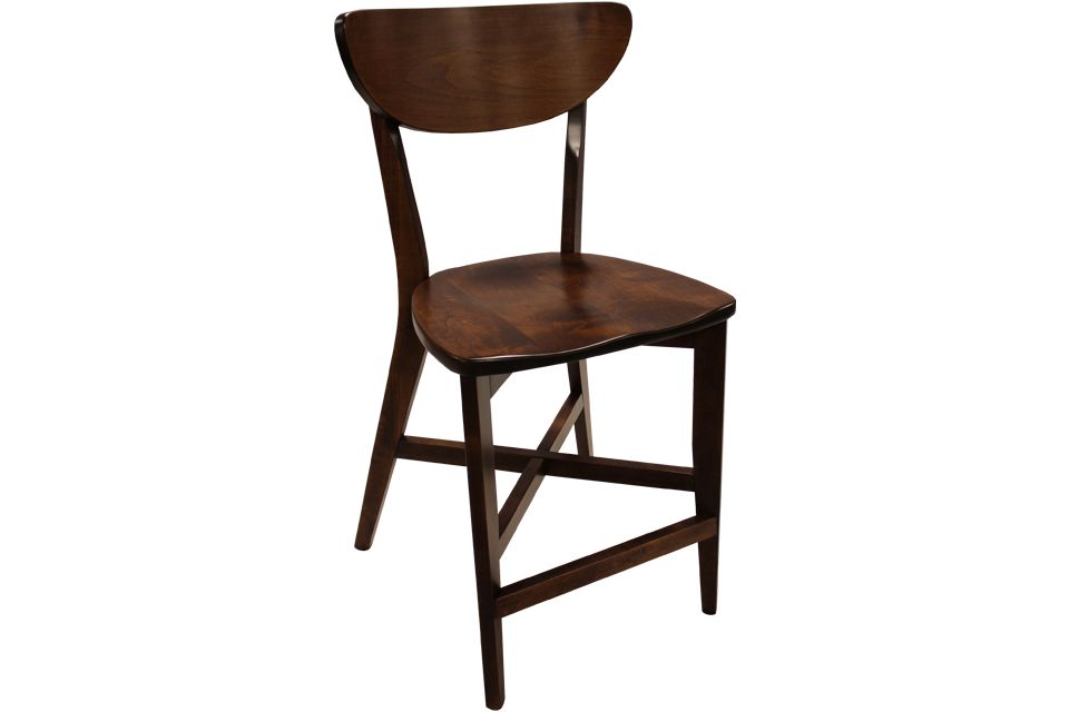 Brown Maple Bar Chair