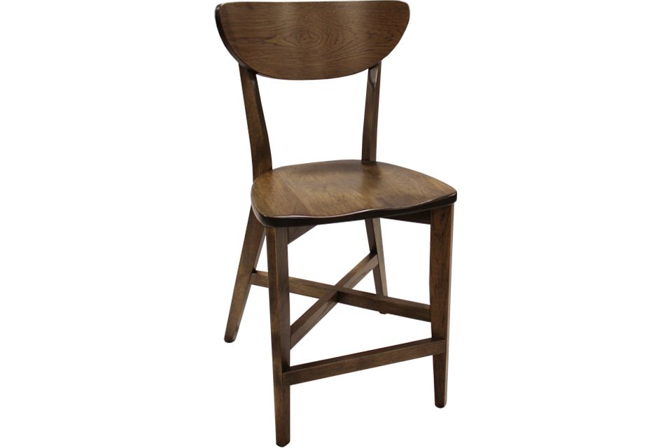 Rustic Hickory Bar Chair