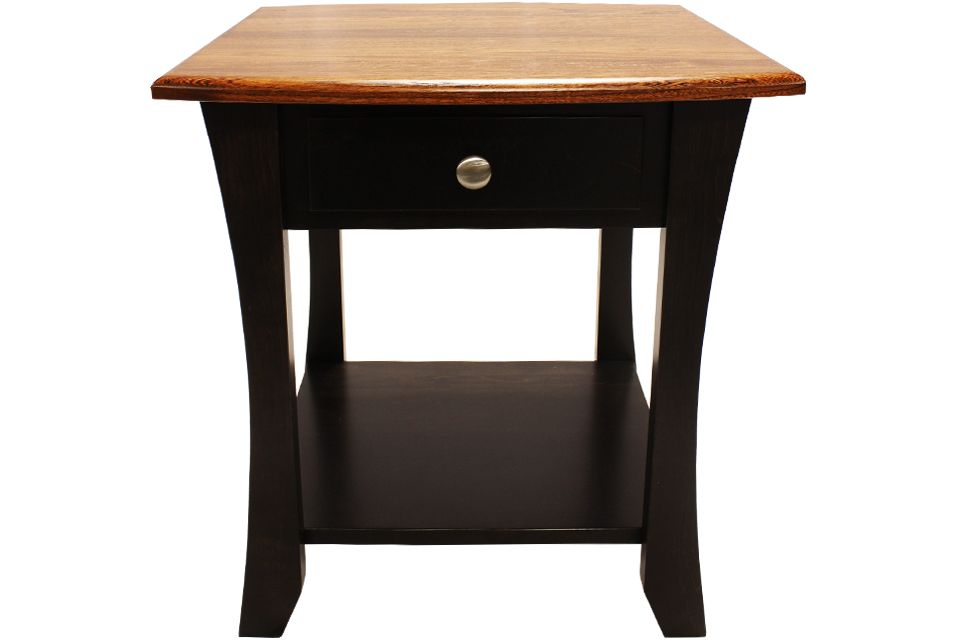 Elm and Brown Maple End Table