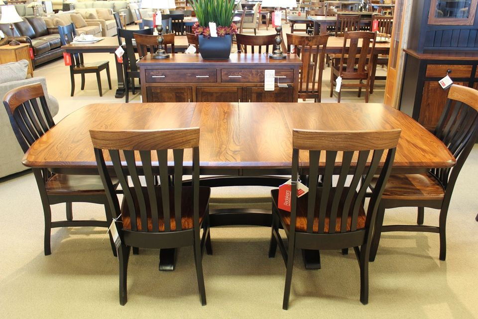 Elm & Brown Maple Dining Table
