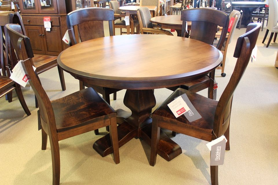 Brown Maple Dining Table 1489, Maple Wood Dining Room Furniture