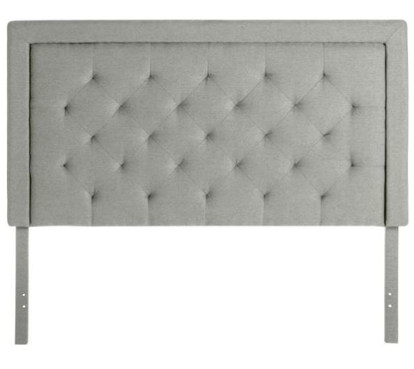 Full Rectangle Tufted Headboard- Stone
