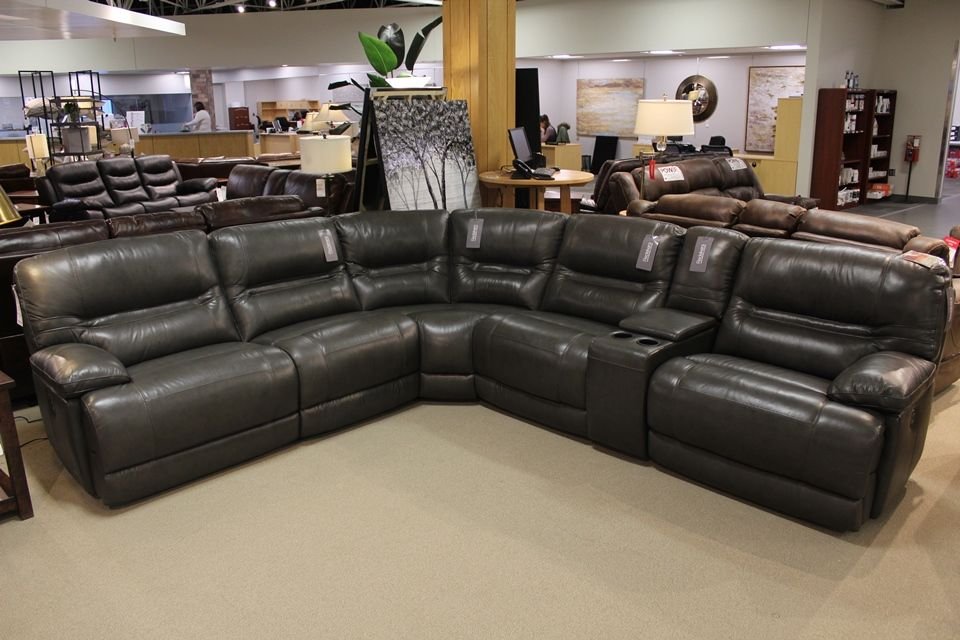 Violino Leather Power Reclining Modular Sectional