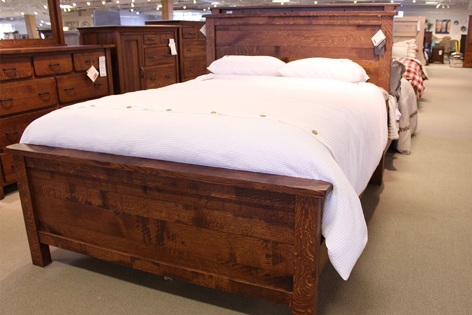Rustic Quartersawn Oak Queen Bed