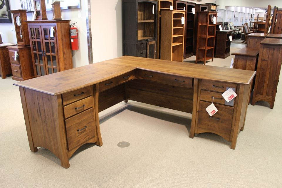 Rustic Hickory Desk