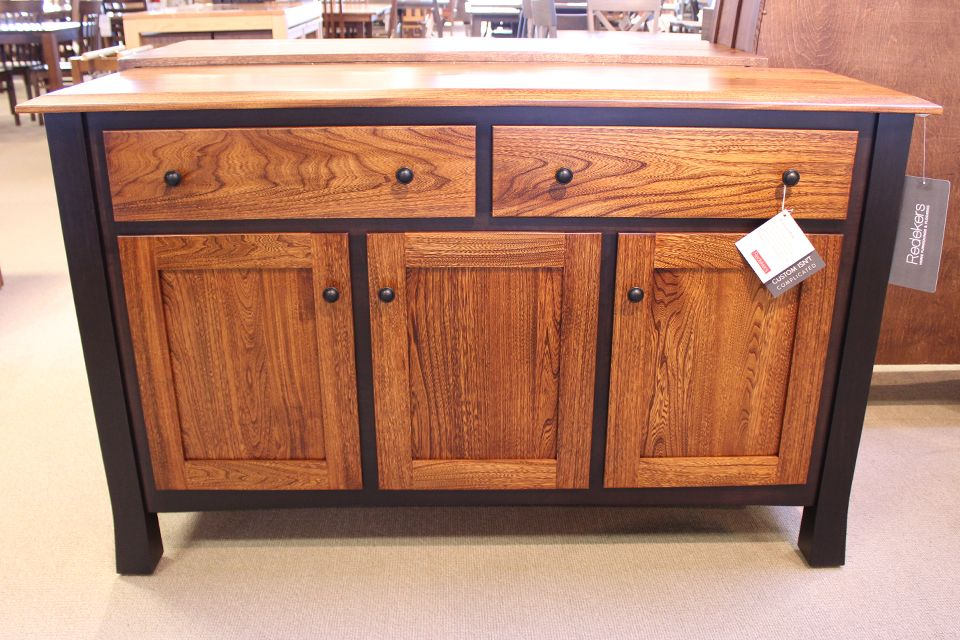 Elm and Brown Maple Buffet