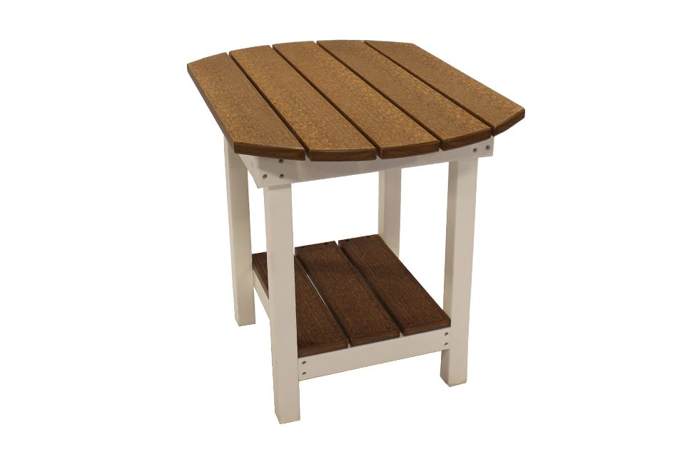 Two Tone Outdoor Oval End Table
