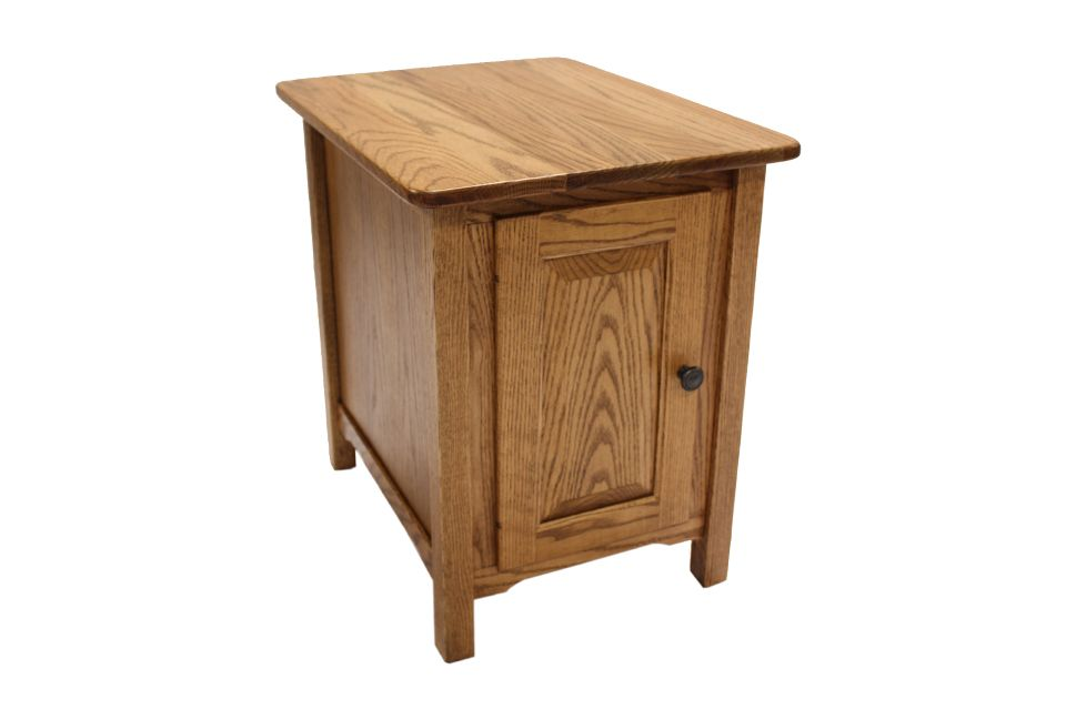 Oak Cabinet End Table