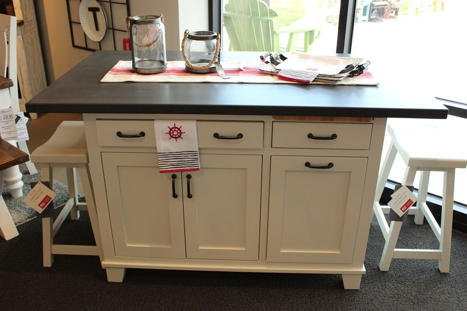 Brown Maple Kitchen Island