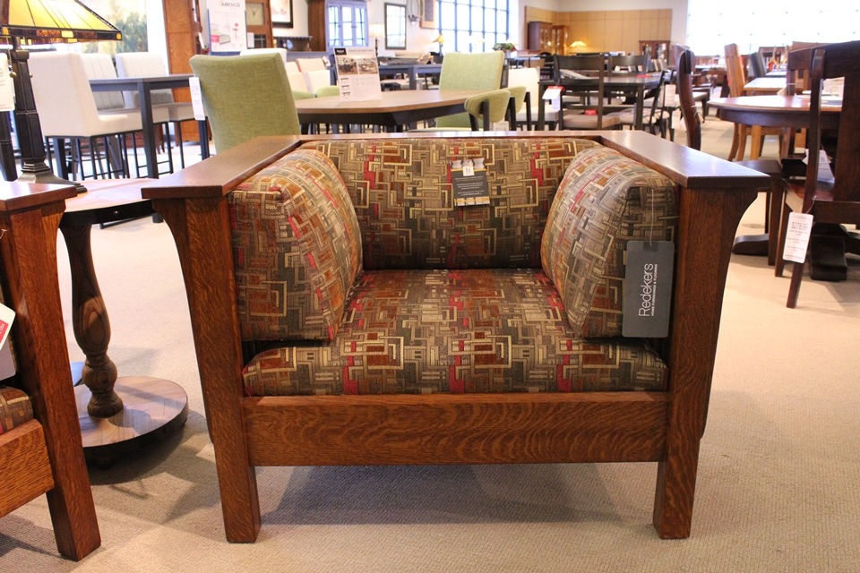Quartersawn Oak Mission Chair