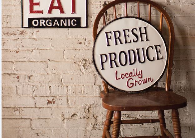 Metal Fresh Produce Sign