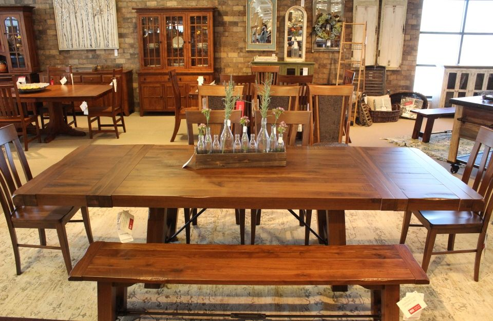 Rustic Walnut Dining Table