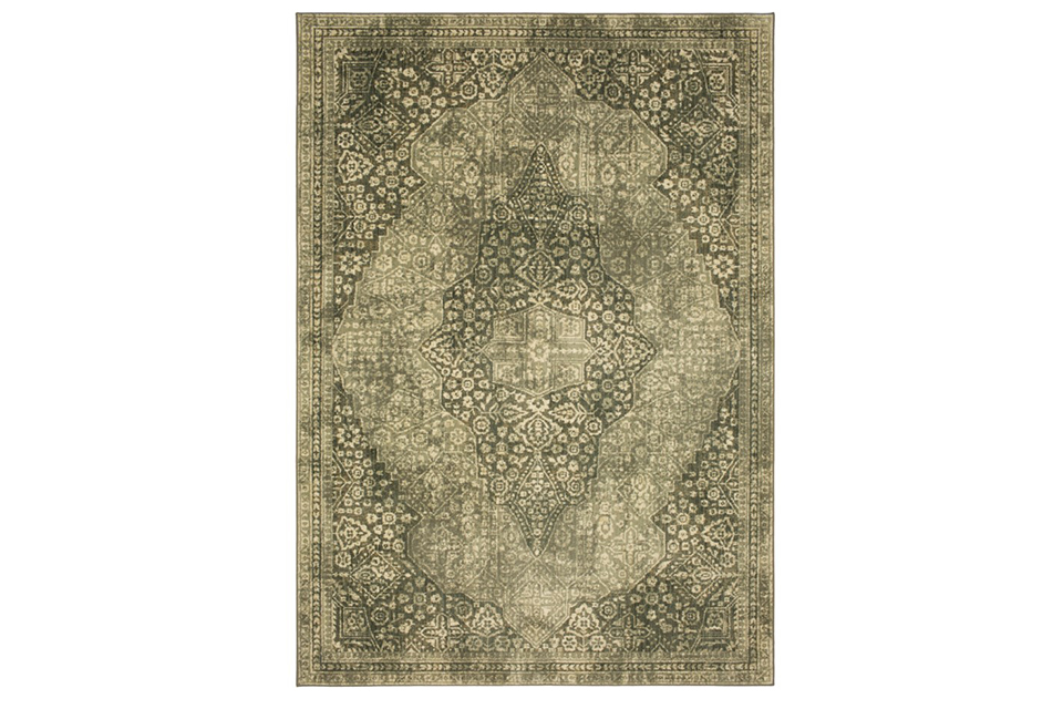 Karastan Euphoria Ziggurat Willow Grey 5x8 Area Rug
