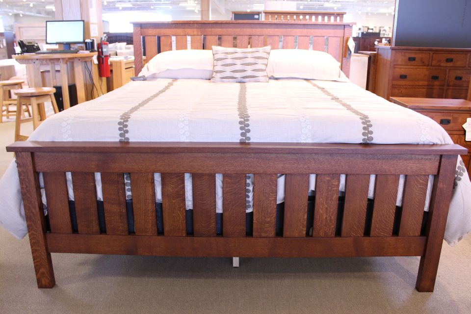 Rustic Quartersawn Oak King Bed
