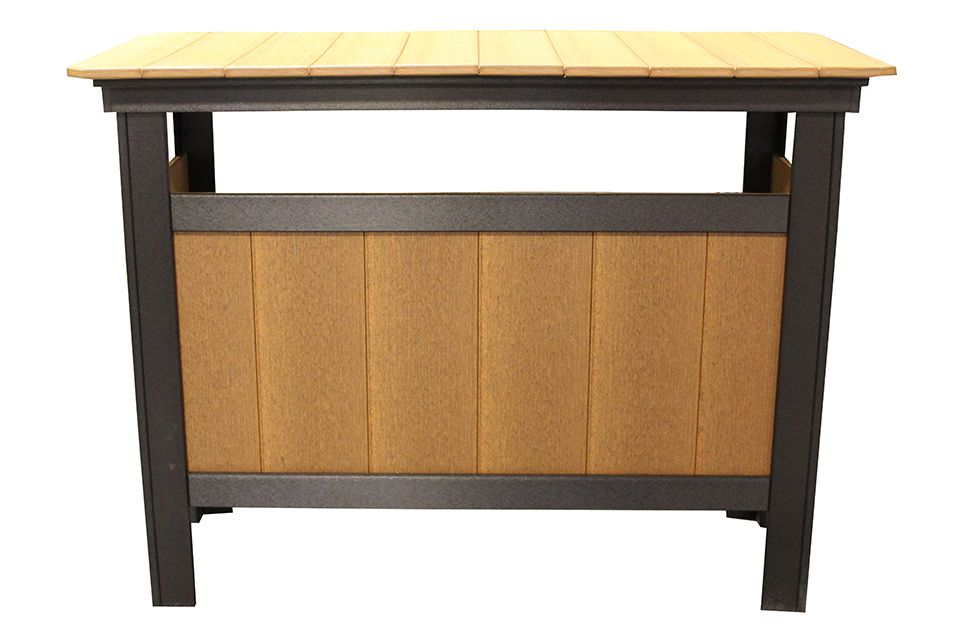 Outdoor Serving Bar- Antique Mahogany