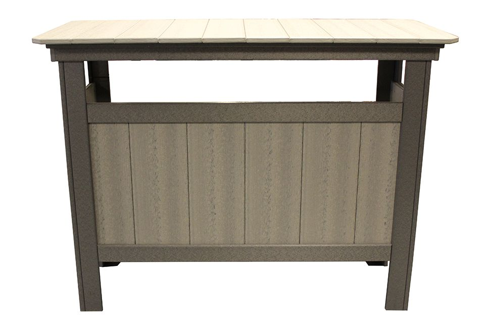 Outdoor Serving Bar - Driftwood/Dark Grey