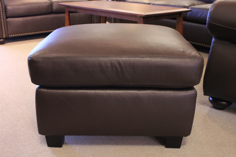 Leather Living Journey Ottoman