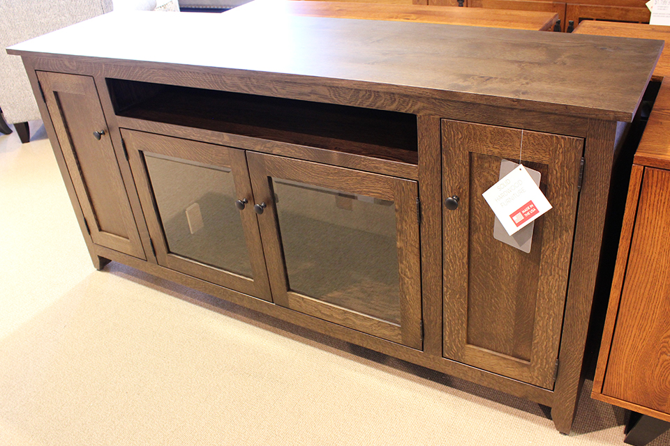 Rustic Quarter Sawn Oak TV Console