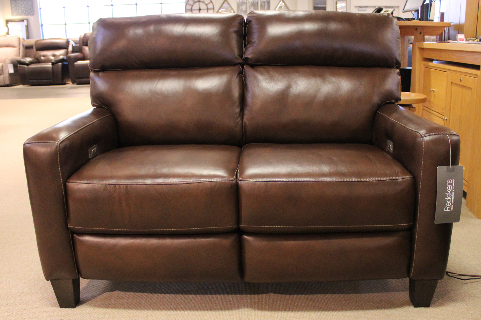 Southern Motion Leather Reclining Loveseat with Power Headrest