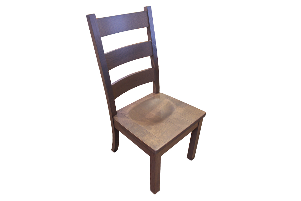 Quarter Sawn Oak High Back Dining Chair