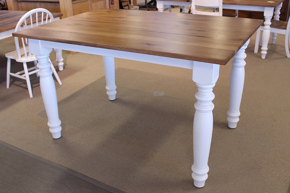 Rustic Hickory and Oak Kensington Leg Dining Table