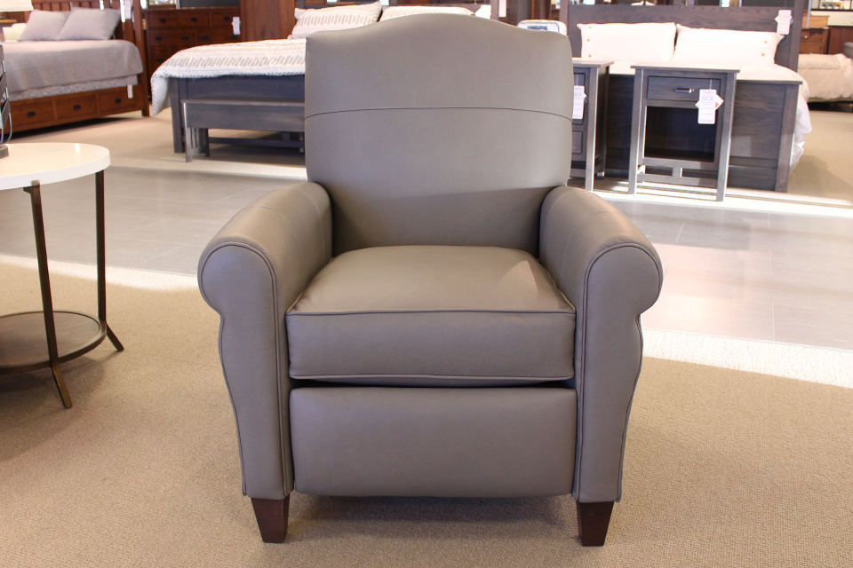 Smith Brothers Pushback Leather Recliner