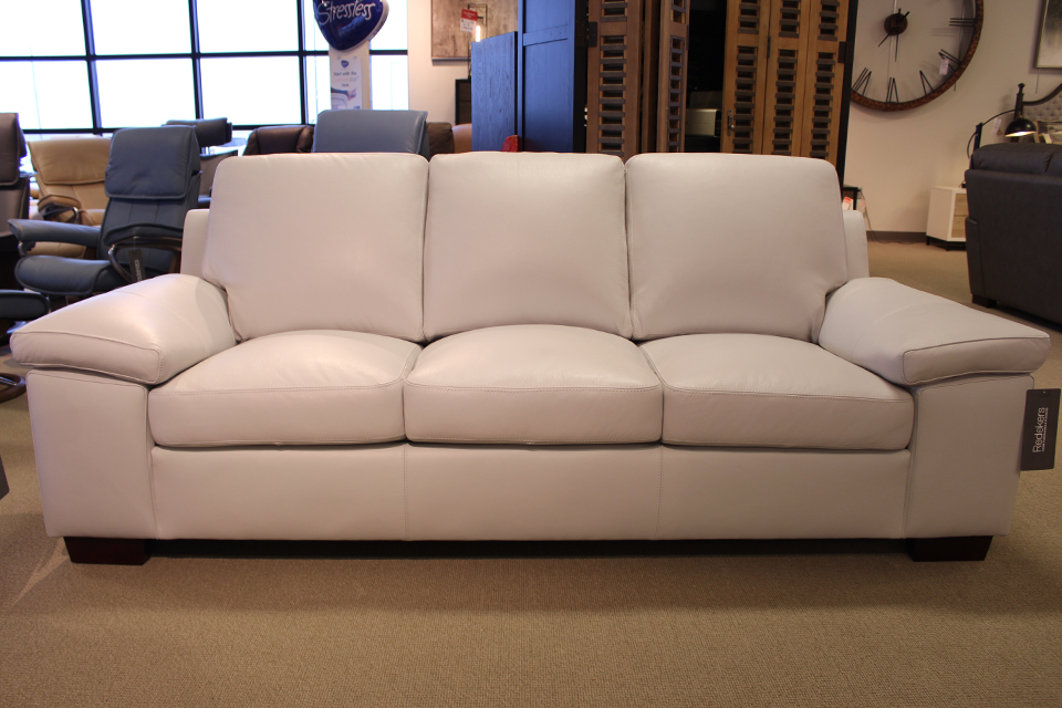 Leather Living Havana Silver Grey Sofa
