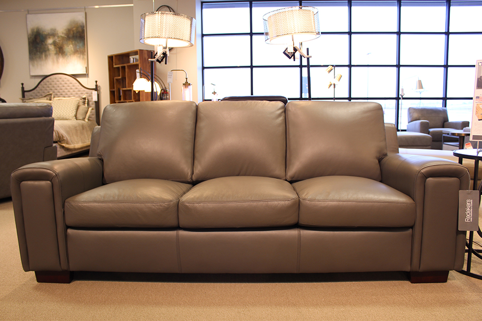 Leather Living Dalton Stone Grey Sofa