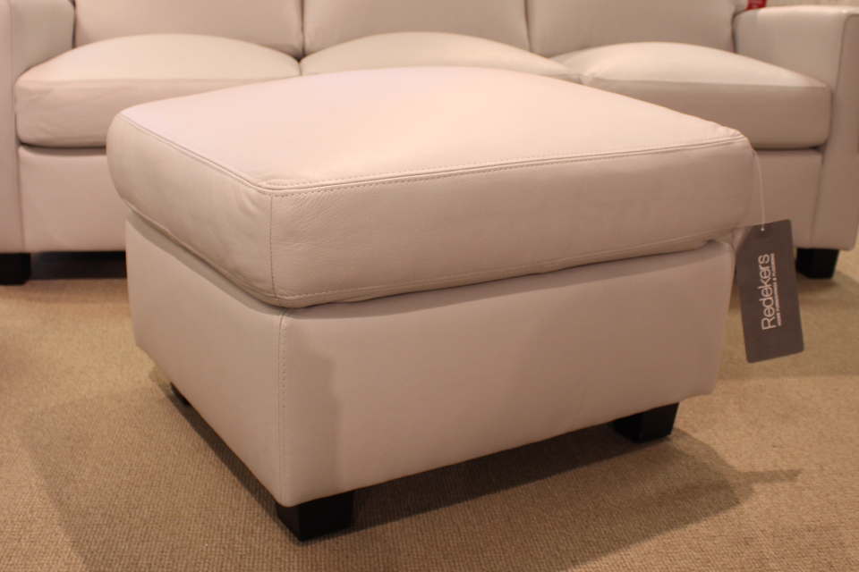 Leather Living Metro Silver Gray Ottoman