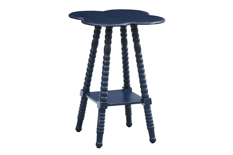Indigo Clover Shaped Accent Table