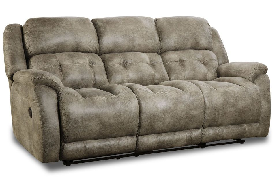 Homestretch Upholstered Double Reclining Sofa