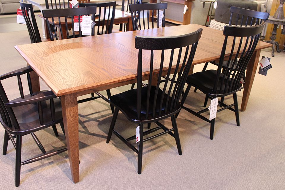 Oak Shaker Dining Table with Two 12