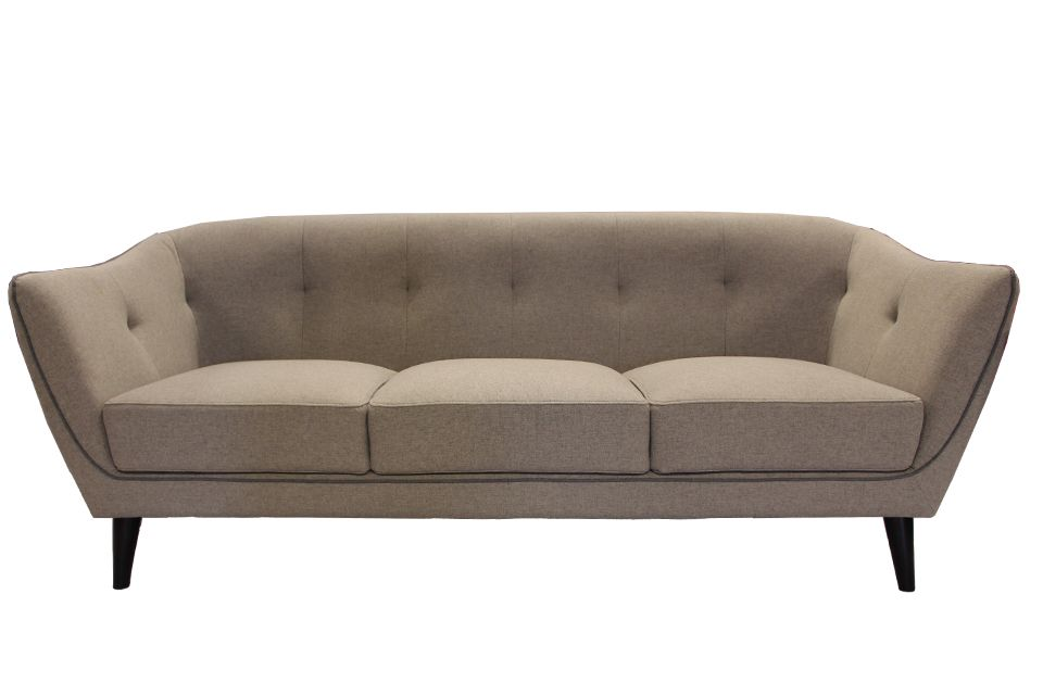 Urban Chic Upholstered Sofa with Piping