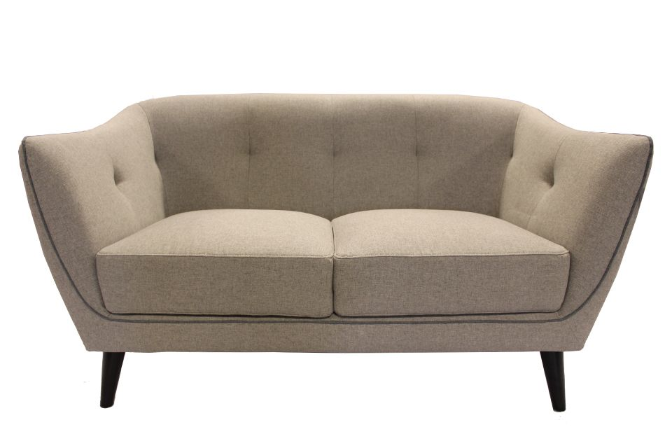 Urban Chic Upholstered Loveseat with Piping