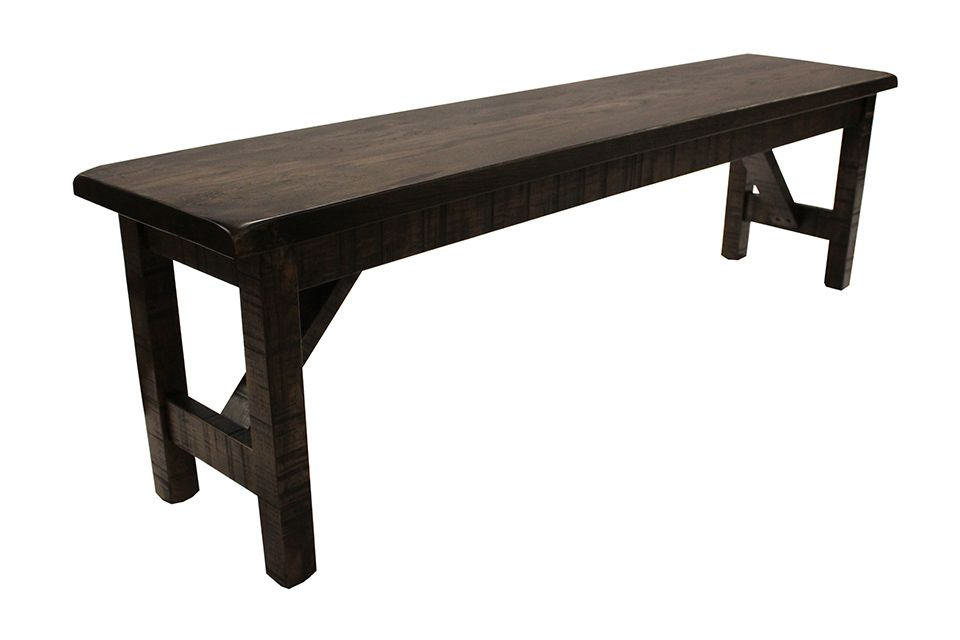 Rustic Hickory Dining Bench