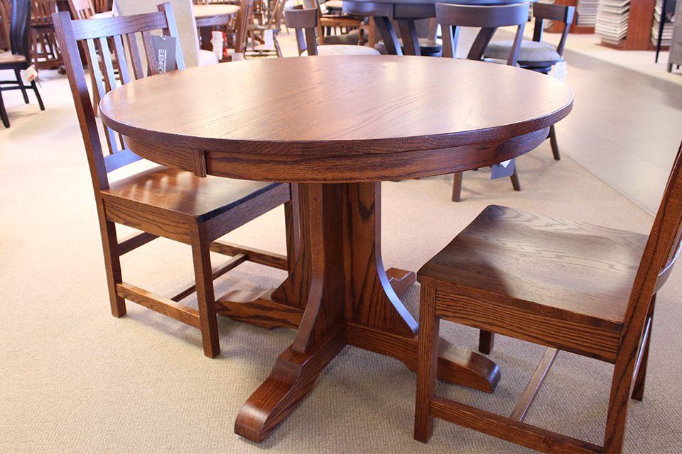 Oak Single Pedestal Dining Table