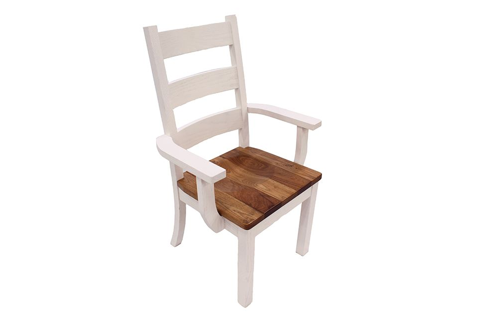 Rough Sawn Hickory High Back Dining Chair