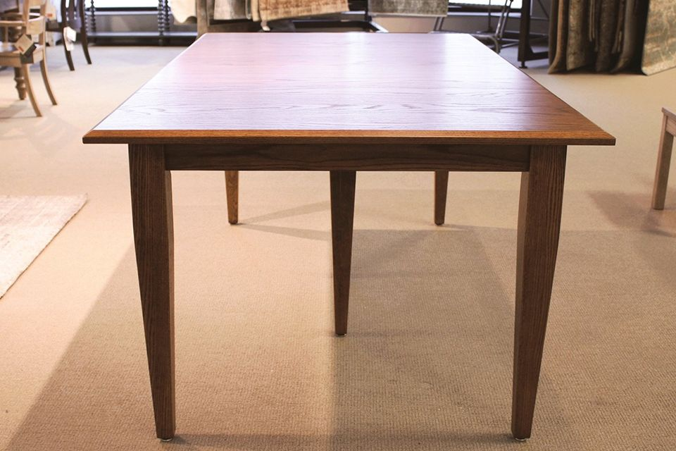 Shaker Oak Dining Table with Twelve 12