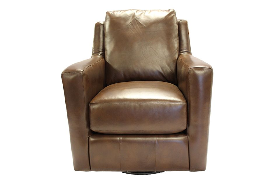 Southern Motion Leather Swivel Glider