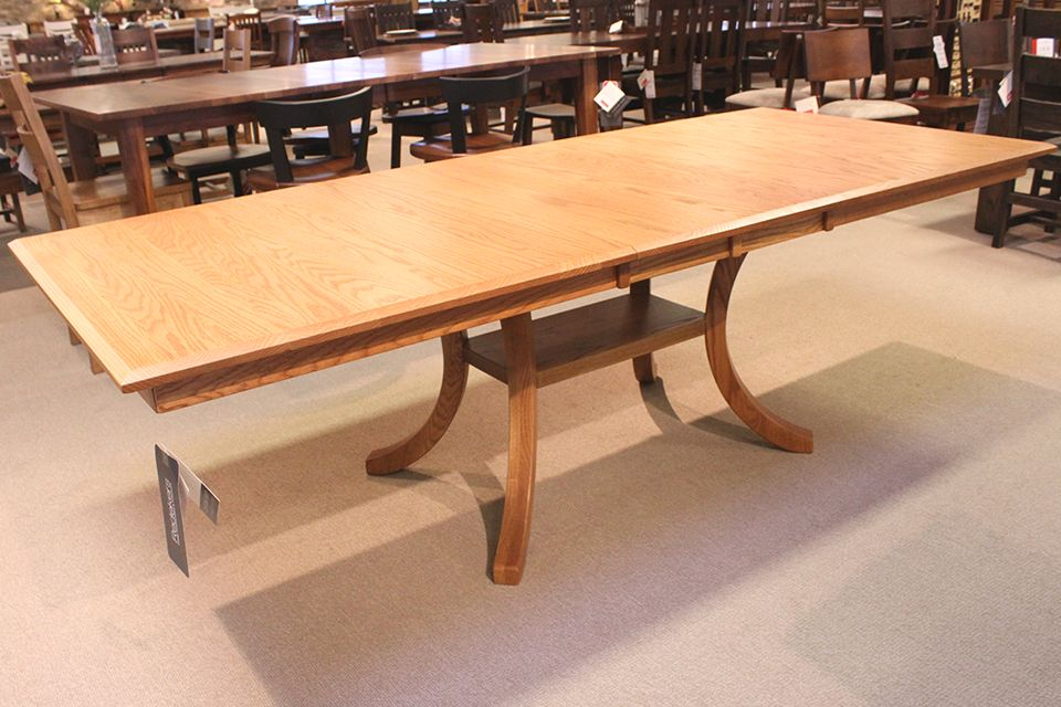 Oak Bevel Edge Dining Table
