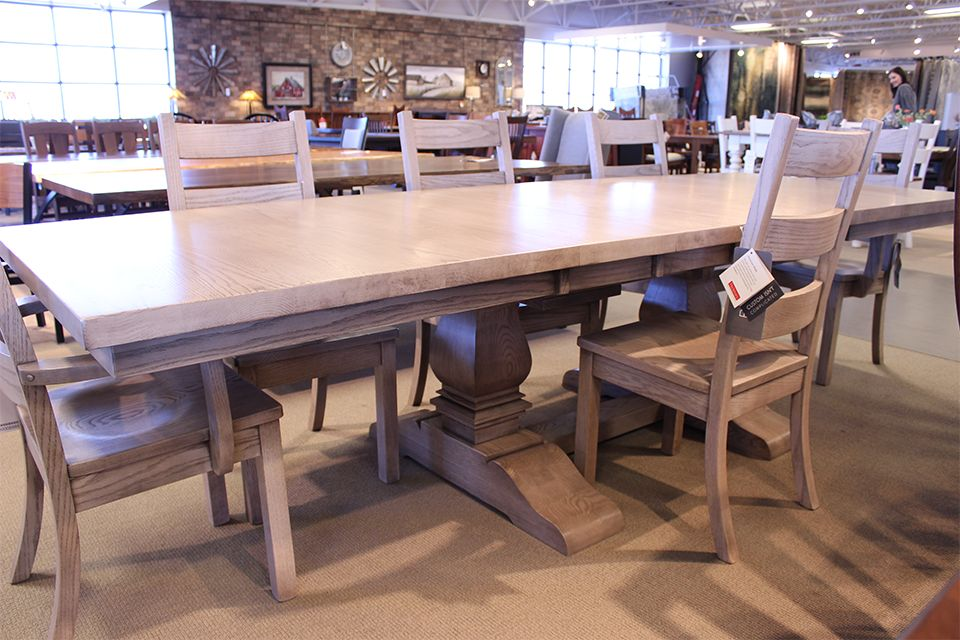 Oak Mammoth Double Pedestal Dining Table
