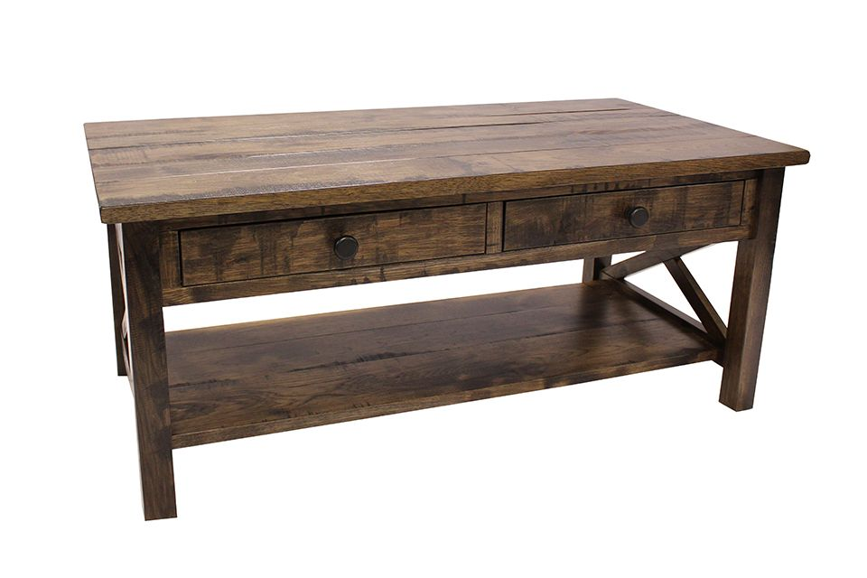 Rustic Hickory Coffee Table